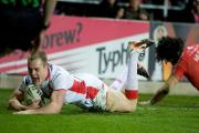 Adam Swift - scored a try before limping off