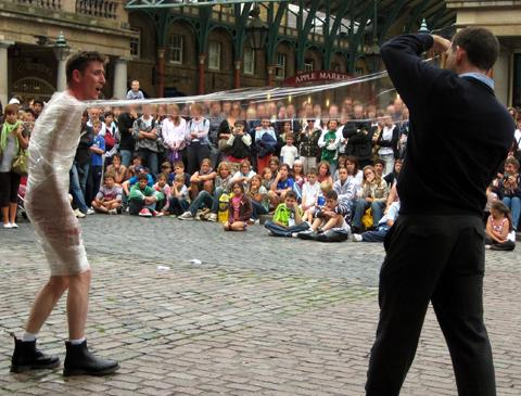 GET OUT OF THAT: Escapologist Gareth Jones