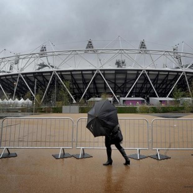 There is a risk of showers for London on Friday when it hosts the Olympic opening ceremony