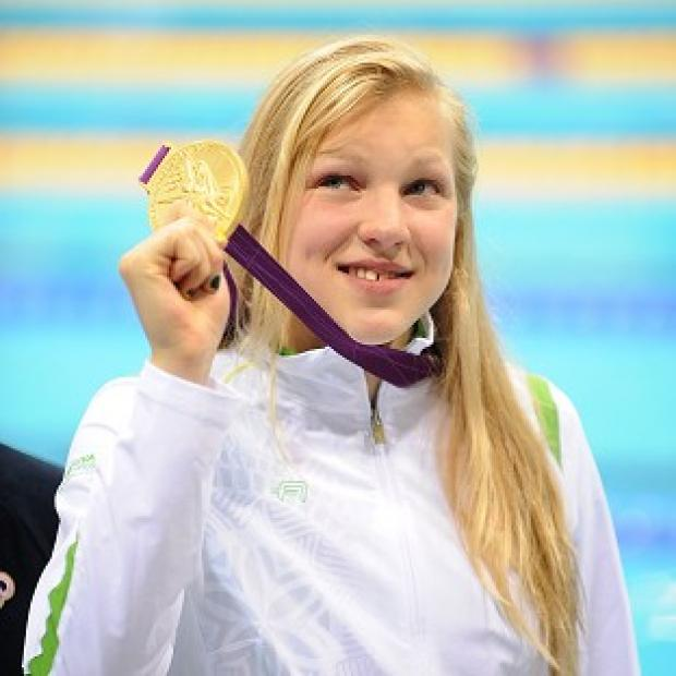 Fifteen-year-old Ruta Meilutyte won gold for Lithuania in the 100m breaststroke