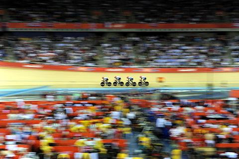 Golden pursuit: Ed Clancy and Team GB smashed the world record last night. By Tom Jenkins/NOPP