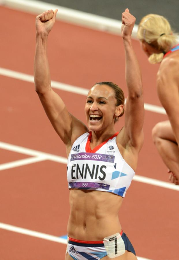 Jessica Ennis - one of the icons of the London 2012 Olympics.