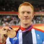 Ed Clancy with his bronze medal. Picture: Graham Chadwick/NOPP