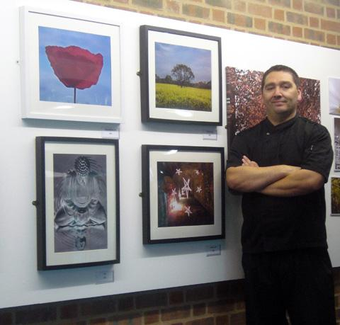 David with some of his photographs