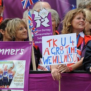 Crowds lined the streets for the London 2012 parade