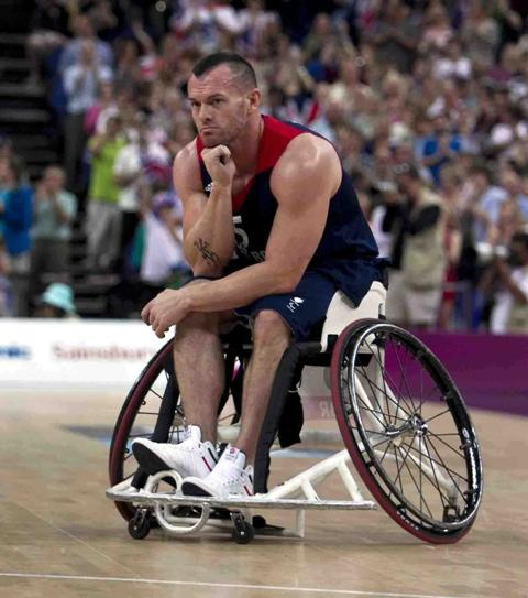 A disapponted Dan Highcock following the match against the US at the Paralympics. 	Picture courtesy SA Images