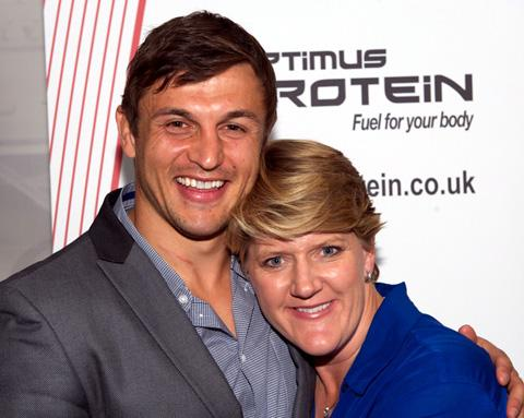 Jon Wilkin and Clare Balding at the Question of Sport evening