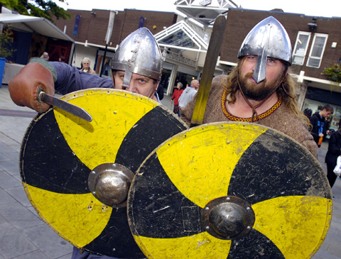 PICTURES: Vikings launch a raid on town centre