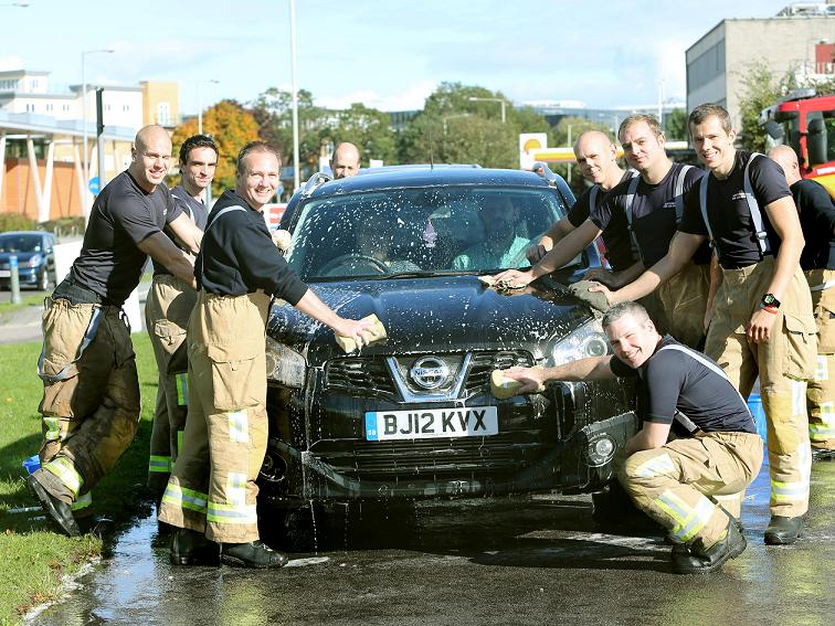 Fire crew polish off another happy customer's car