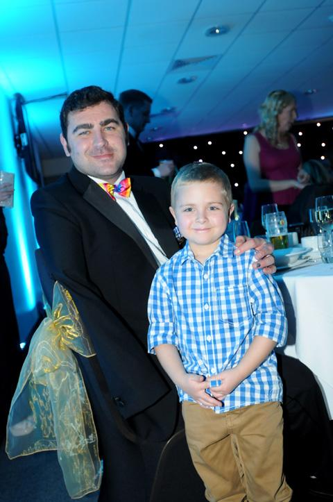 Pride of St Helens Andy Reid pictured with Courage Award runner up Billy Jarvis.