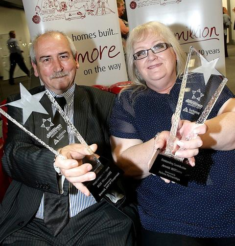 Husband and wife winners Jennie and Bob Williams from Moss Bank