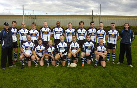 Blackbrook line up before Saturday's crunch clash at Bank Quay Bulls, won 12-6 by the visitors.