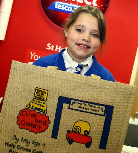 Amy with one of the jute bags