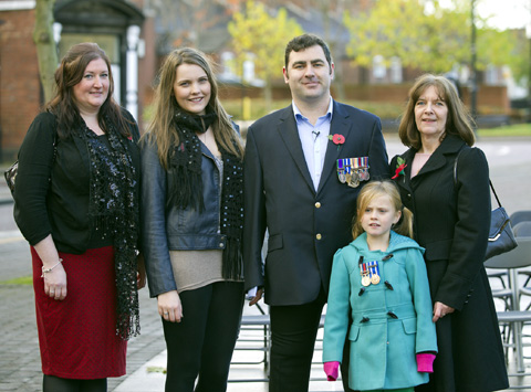 A day when families touched by war stood united