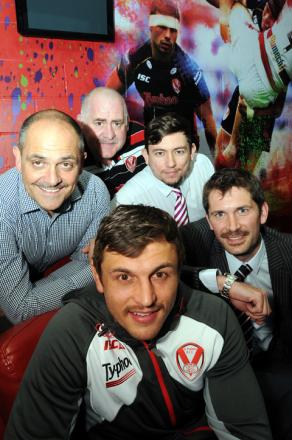 Jon Wilkin with fellow 'mo-bros' Dave Hutchinson, Peter Speakman, Mark Onion and Tom Sutcliffe.