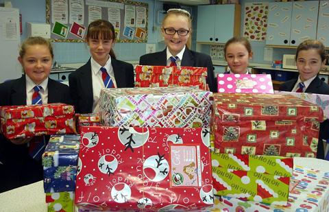 Students send global gifts
