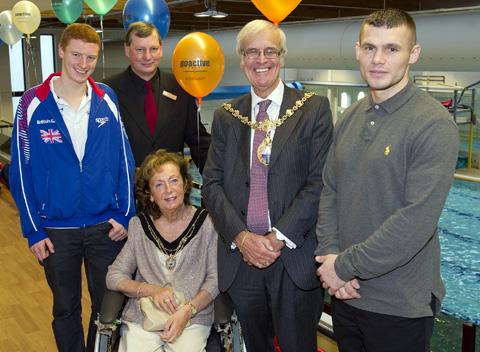 Martin Murray (right) was the specila guest at the official opening of the new look Parr pool.