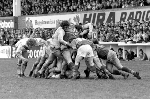 Saints v Leeds scrummaging in the late 70s