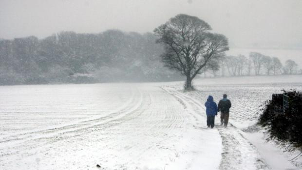 Heavy snow is forecast for St Helens this afternoon.