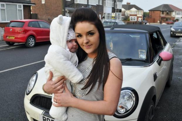 St Helens Star: Warning: Louise Waine with baby Leo
