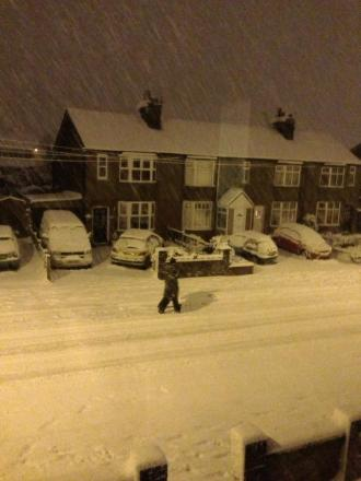 A Star reader snapped this picture of the snow storm in Haresfinch last night.