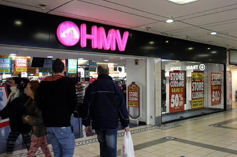 Closing down sale notices were delivered to HMV within hours of the news breaking.
