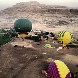 The launch site near Luxor in Egypt prior to the accident (Christopher Michel/PA)