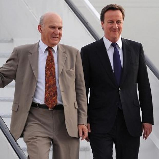 David Cameron will insist he is 'sticking to the plan' on the economy despite remarks by Vince Cable