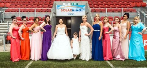 Pitch perfect: Models at the Star show, held at Langtree Park.