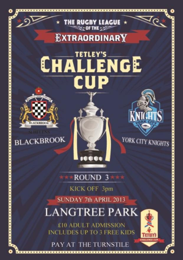 Blackbrook to play Challenge Cup tie at Langtree Park