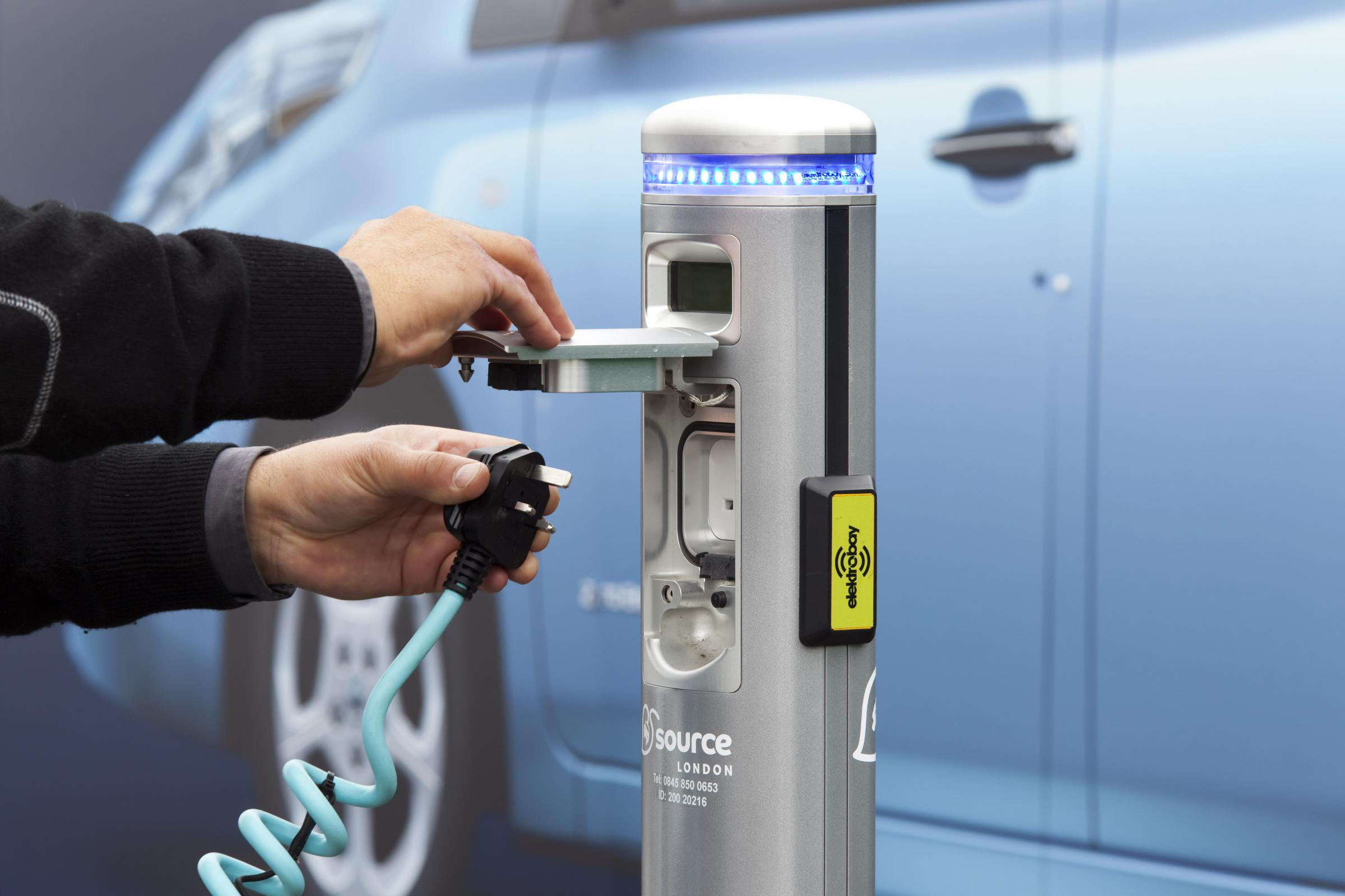 Money is on offer for electric car charging points