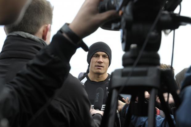 St Helens Star: In focus: Sonny Bill Williams takes questions from the media at Cowley