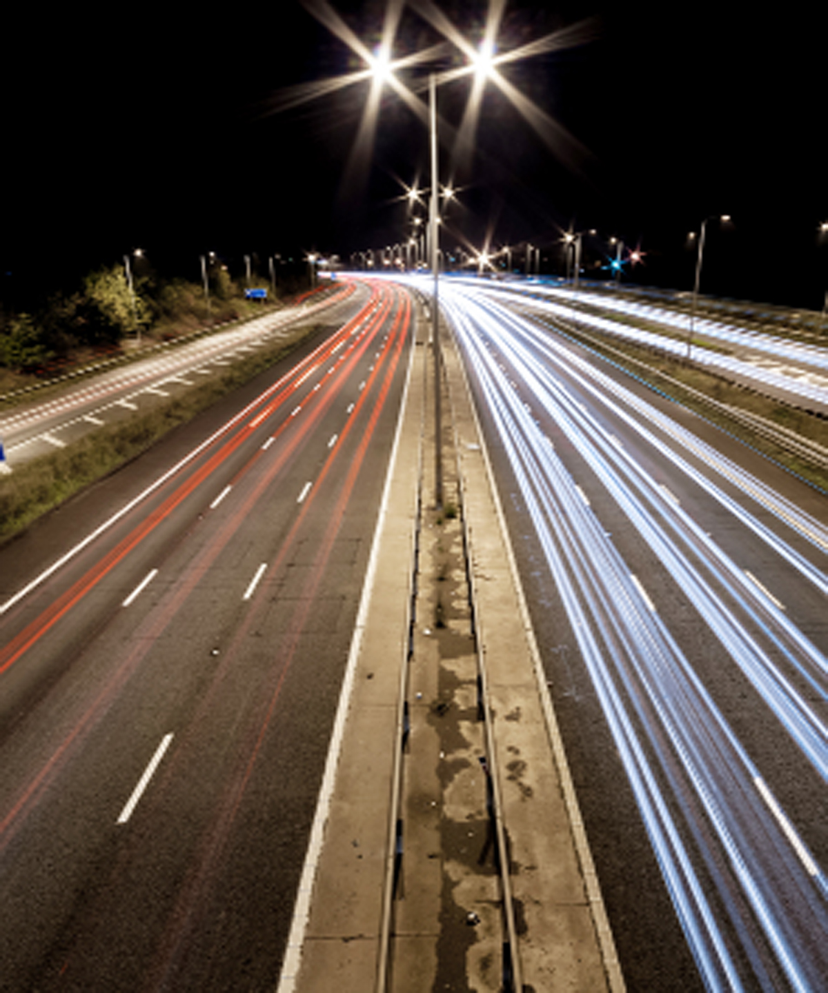 Motorway lights switch-off trial
