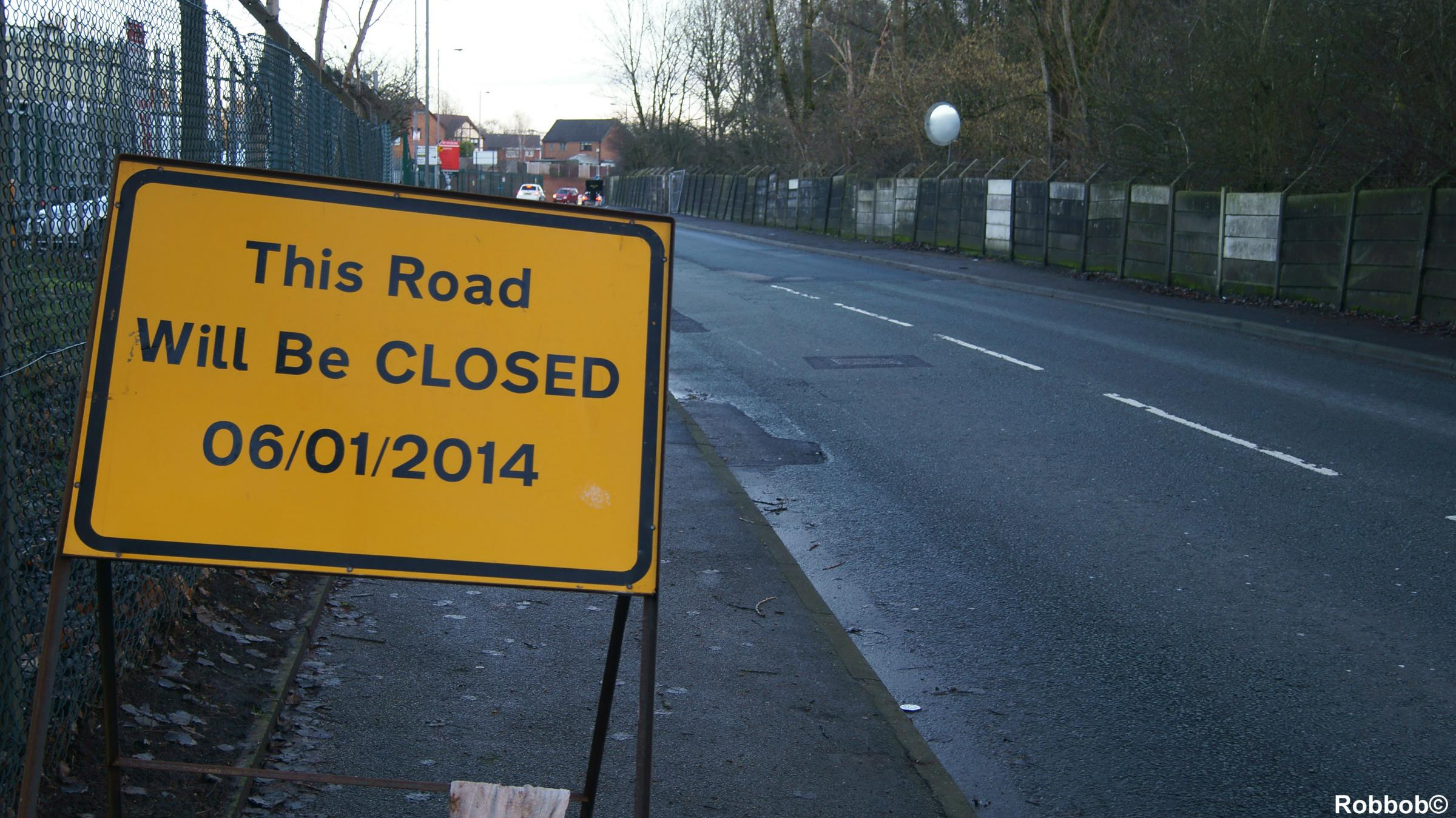 Washway Lane to reopen on Friday night (Pic Robbob)