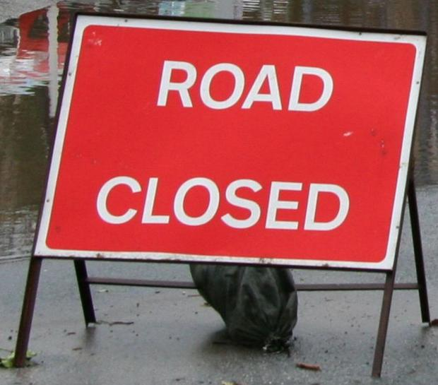 Road shut after drain collapses