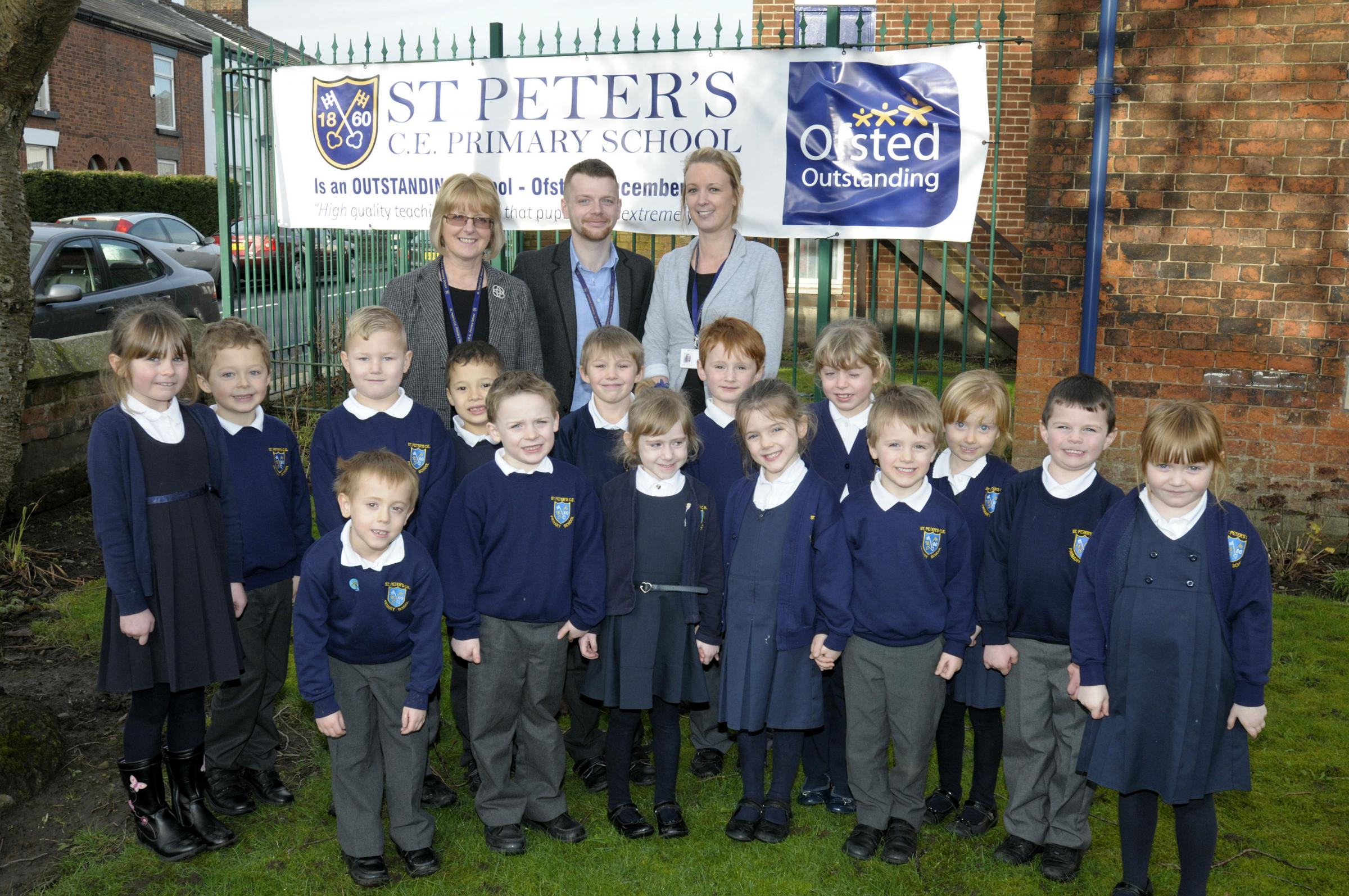 Aiming high: St Peter's pupils and teachers are being hailed for their achievements