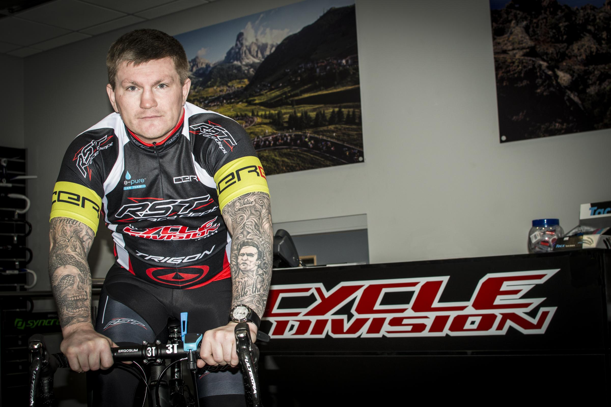 Ricky Hatton gets on his bike to help homeless