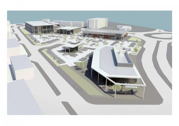 St Helens Star: Vision: A 3D model of how the new development at the former St Thomas's Square site could appear