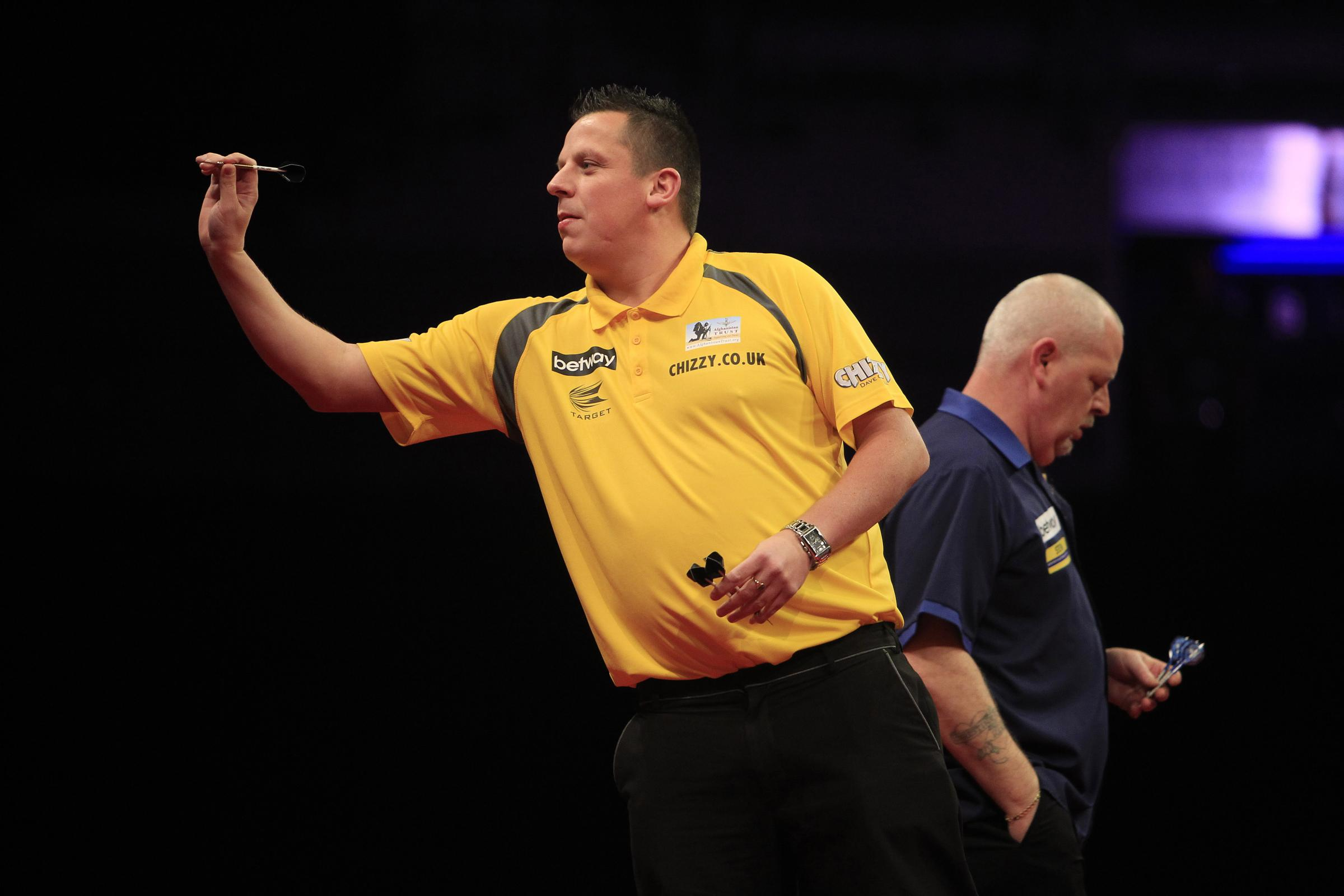 Dave Chisnall in action last week in Liverpool