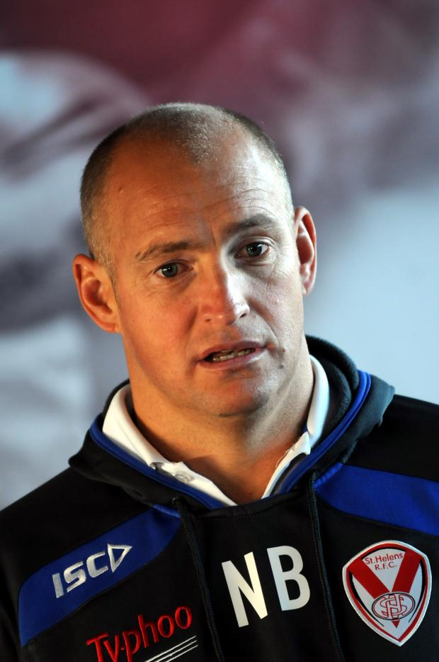 St Helens Star: KEEPING HIS COOL: Nathan Brown keeps his emotions in check on the sideline