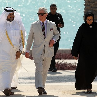 The Prince of Wales in Doha, Qatar (AP)