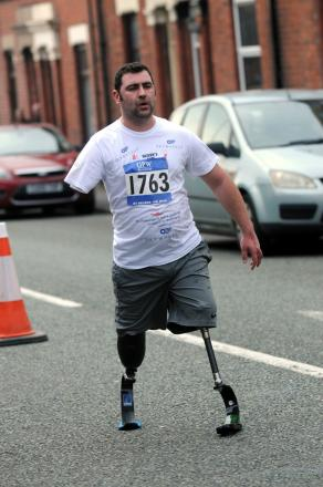 Inspiration: Andy Reid competing in this year's St Helens 10K