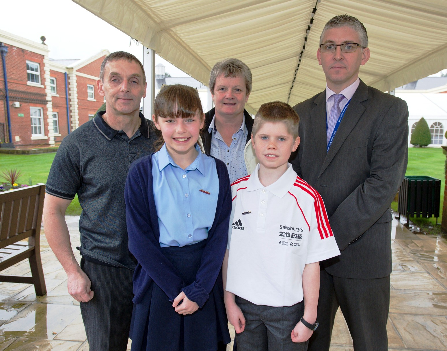 Ian Wellens (right) with SGOs Damian Keegan and Dianne Murphy and