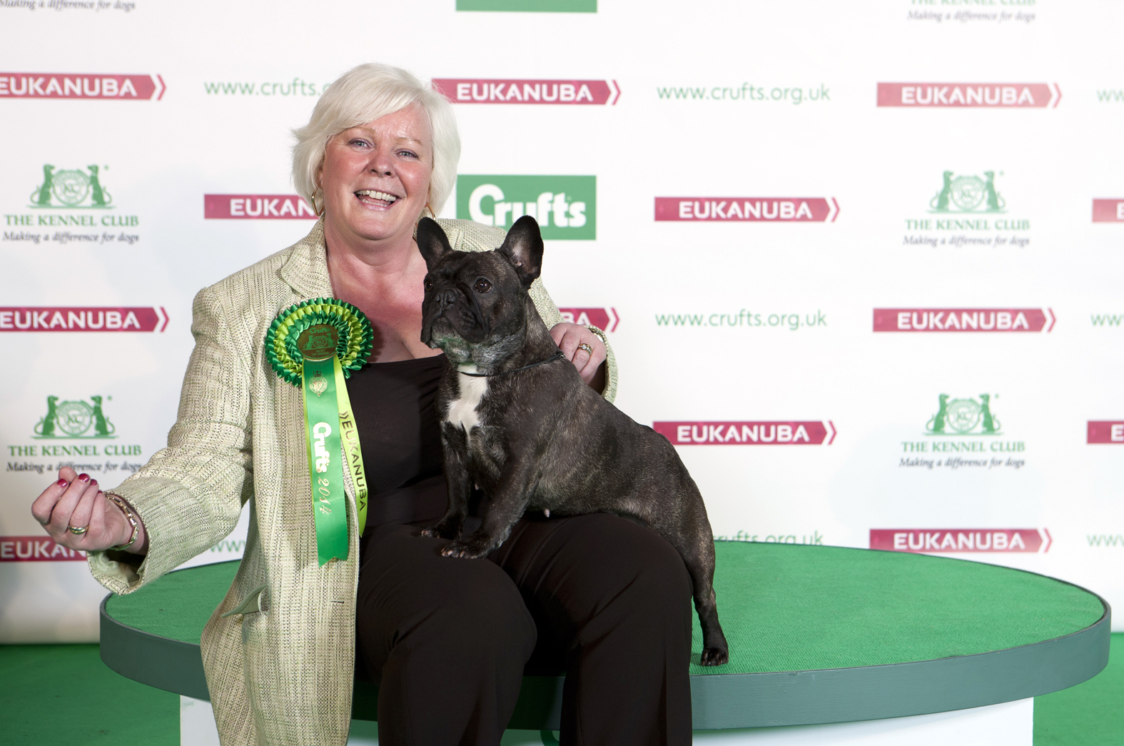 Penny, who was named Best of Breed at Crufts, with proud owner Ann Wildman