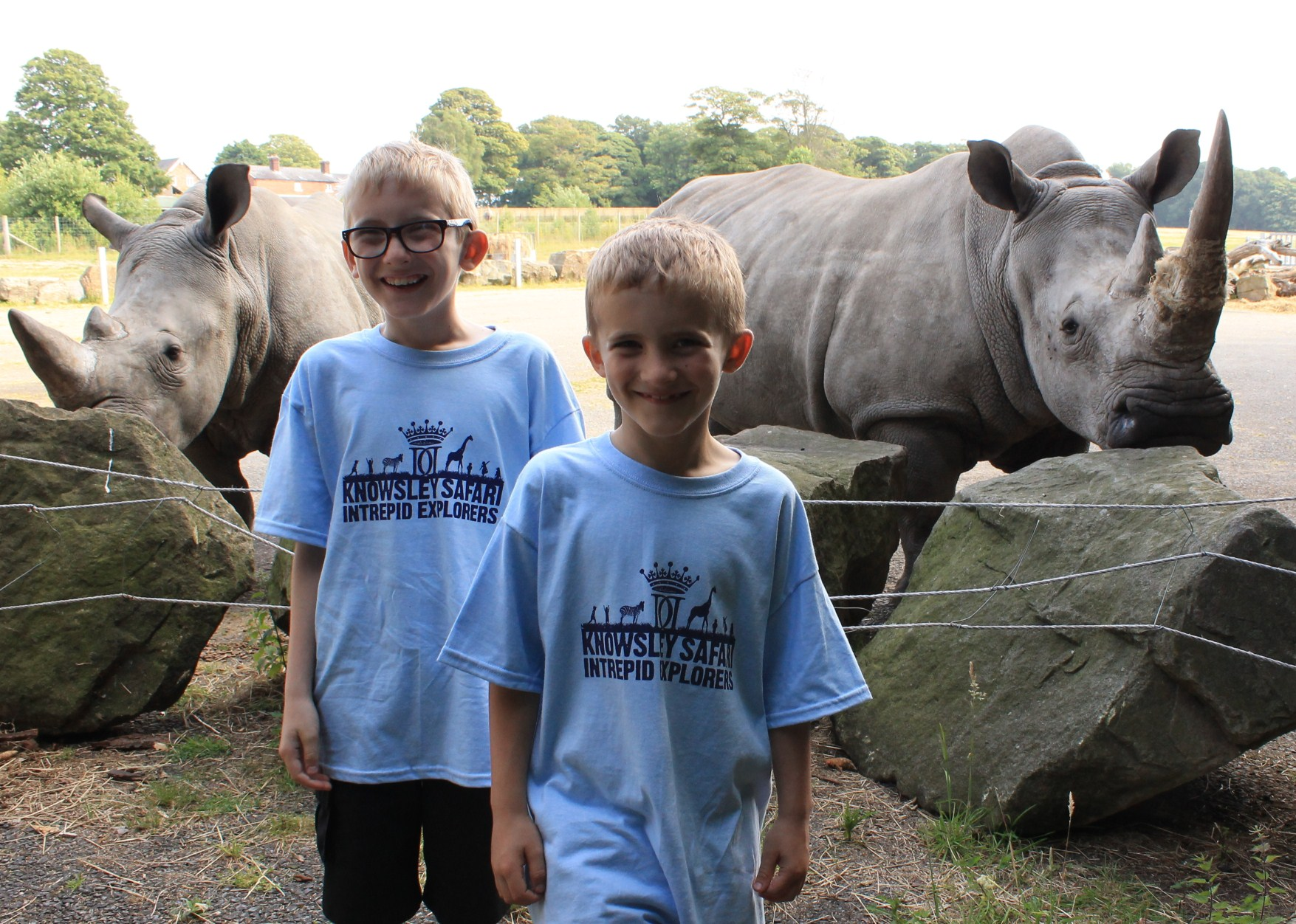 Intrepid Explorers and friends at Knowsley Safari Park