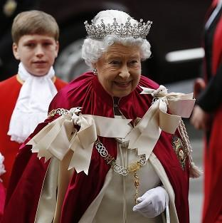 St Helens Star: The Queen arrives for the Order of the Bath Service at Westminster Abbey.