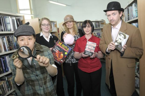 St Helens Star: Hwa Young Jung, Laura Ellis, Julie Lemarquis, Julie Phillips and Dave Mee get into detective mode.