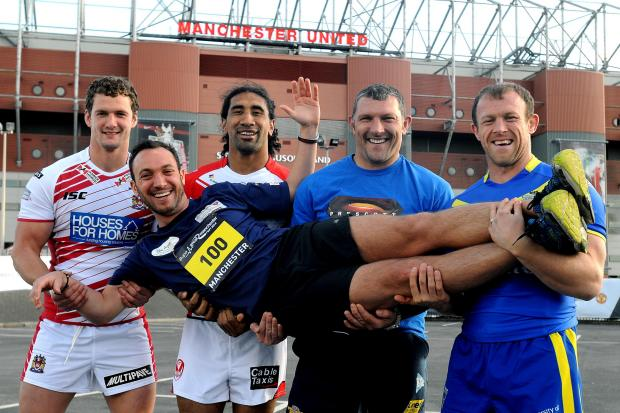 Need a lift: George Riley has the support of Super League stars past and present, including Sia Soliola