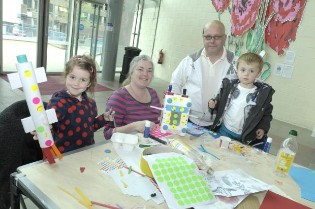 Hundreds of families joined in Saturday arts clubs ahead of the Heart of Glass                                               IPQ10514