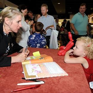 Children's author Lauren Child during a book signing
